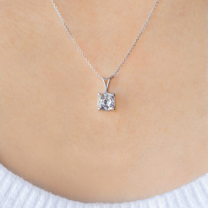 2.00 Carat Cushion Cut Pendant