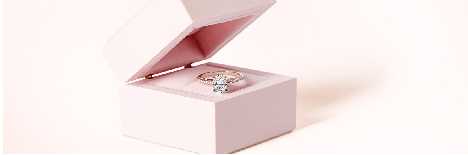 An accented engagement ring