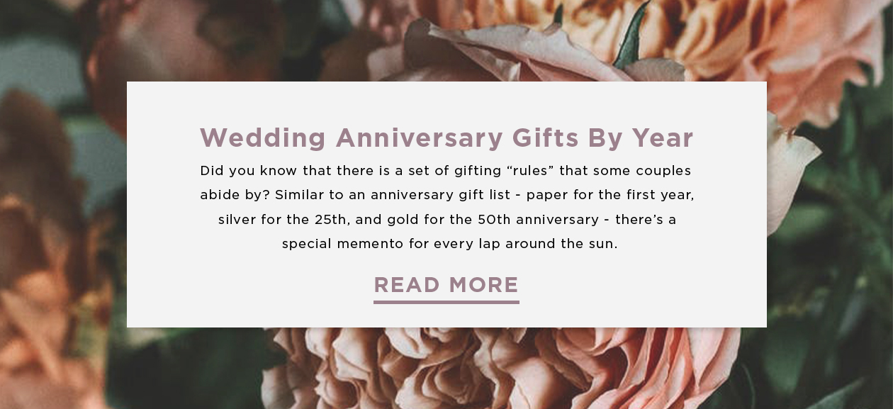 Wedding Anniversary Gifts by Year