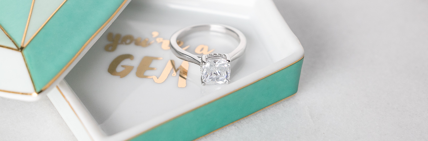 Solitaire lab diamond engagement ring