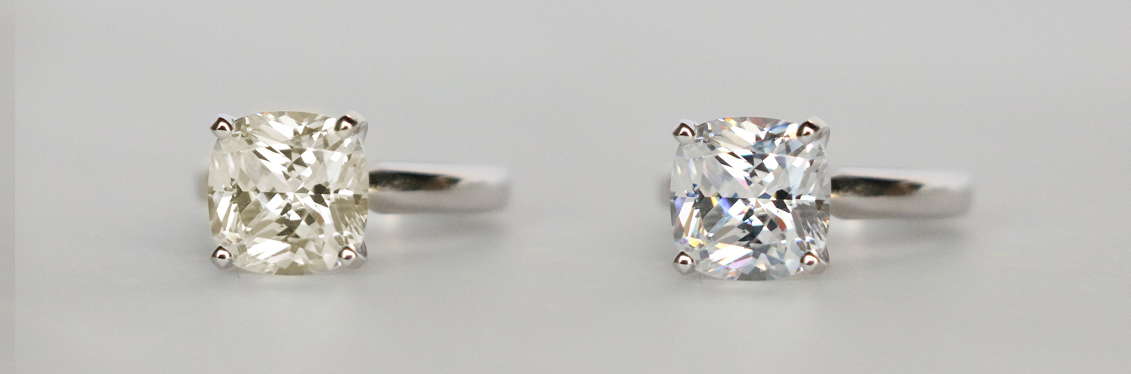Diamond color compared side by side