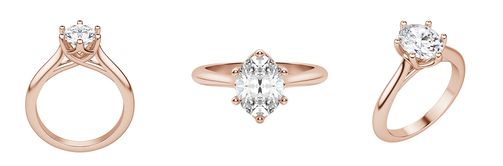 Trellis set engagement ring