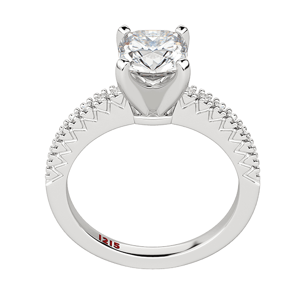Accented Cushion Solitaire
