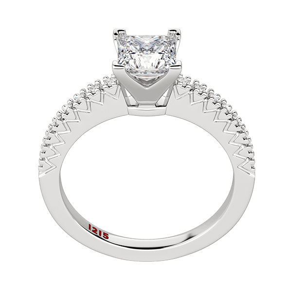 Accented Princess Solitaire