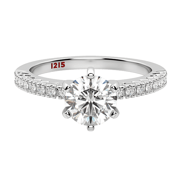 Accented Round Solitaire